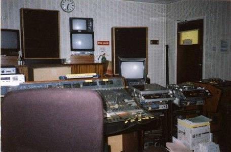 The sound room at Anglia Studios.