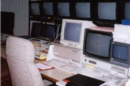 One of the edit suites at Anglia Studios were the graphics for Knightmare were controlled.