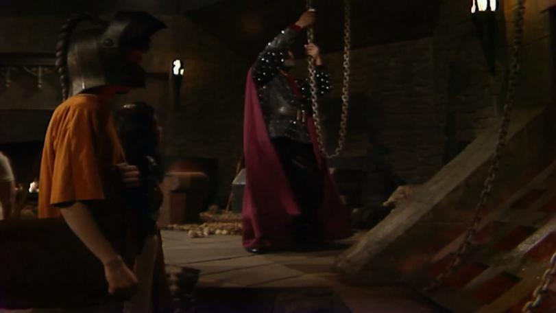 Series 8 Quest 1 - Dungeoneer Richard entering the dungeon from the antechamber