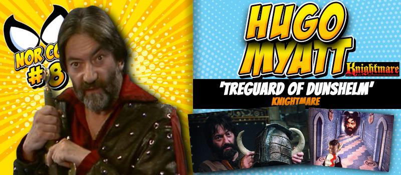 An advert for the 2018 Norfolk TV, Film and Comic Con (Nor-Con) featuring Hugo Myatt.