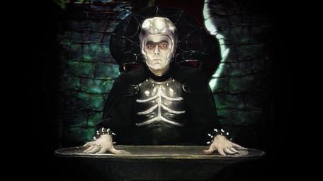 Lord Fear, the Leader of the Opposition, as played by Mark Knight in Series 6 of Knightmare (1992).