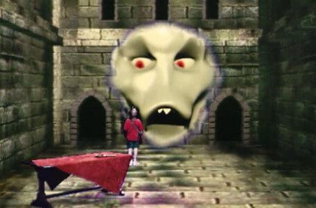 Knightmare Series 7 Team 3. The Brollachan appears in a stone room in Goth.