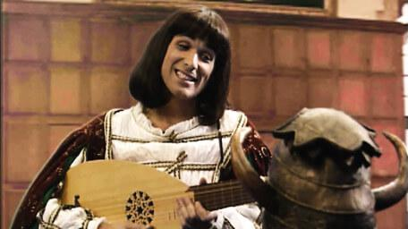 Ridolfo the minstrel, played by Adrian Neil in Series 6 of Knightmare (1992).