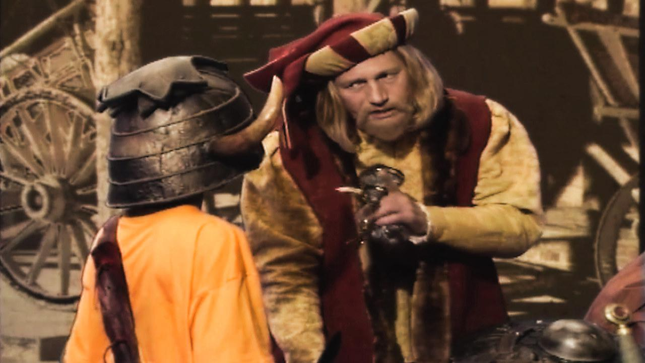 Series 5, Quest 7. Julius Scaramonger sells Christopher a spell.