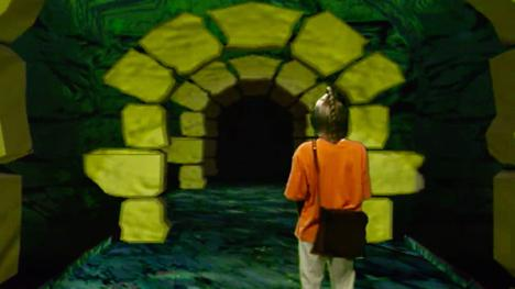 Snapdragon tunnels from Series 8 of Knightmare (1994).