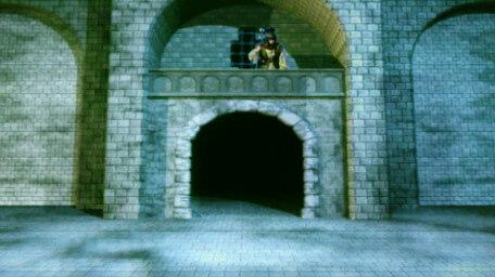 A guard post in the Tower of Linghorm, as seen in Series 8 of Knightmare (1994).