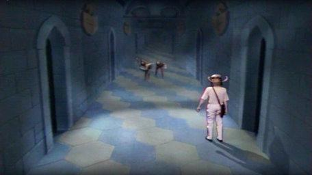 Corridor of the Catacombs in Series 3 of Knightmare (1989).