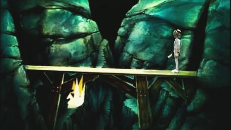 The bridge, also claimed as the Vale of Mogdred, from Series 2 and 3 of Knightmare.
