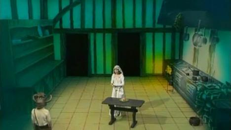 The Kitchen, with animated fire, as shown in Knightmare Series 2.