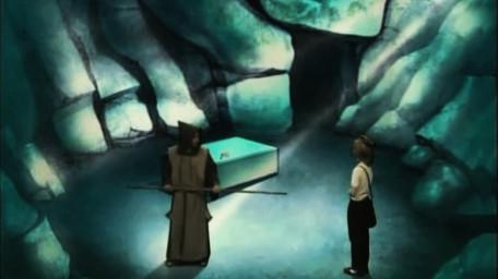 The Monk Room, based on a handpainted scene by David Rowe, as shown on Series 2 of Knightmare (1988).