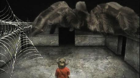 A variant of the Spider Room, based on a handpainted scene by David Rowe, as shown on Series 2 of Knightmare (1988).
