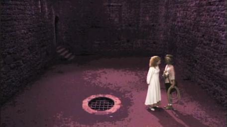 The basement scene, as seen in Series 4 of Knightmare (1990).