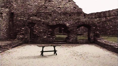 Old castle ruins, as shown in Series 5 (1991).