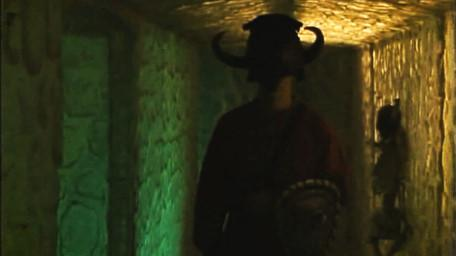 The dwarf tunnels, as seen in Series 6 of Knightmare (1992).