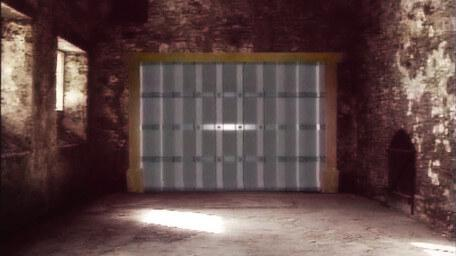 The inside of the Gate Tower, as seen in Series 5 of Knightmare (1991).