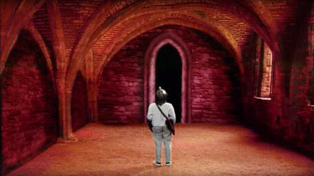The undercroft, as seen in Series 7 of Knightmare (1993).