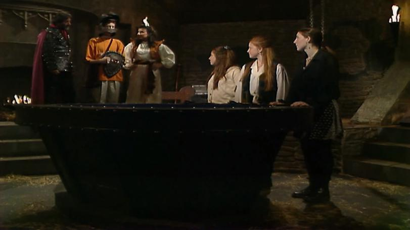 Series 8 Team 1 in antechamber before quest