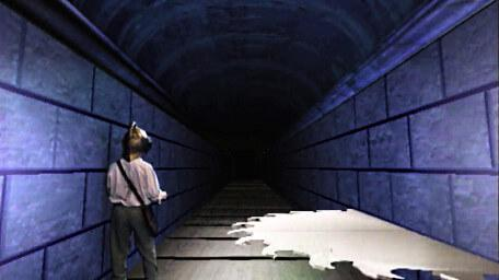 The Corridor of Blades, as seen in Series 7 of Knightmare (1993).
