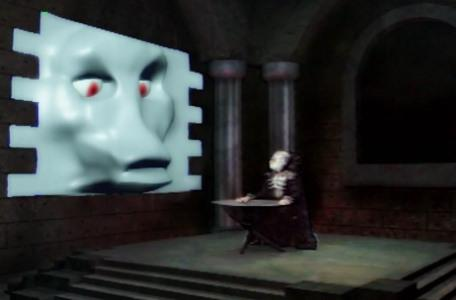 Knightmare Series 7 Team 1. Lord Fear speaks to his new shape-shifting monster, the Brollachan.