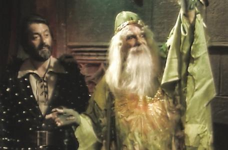 Knightmare Series 4 Quest 6. Treguard watches on as Merlin sends the team home.