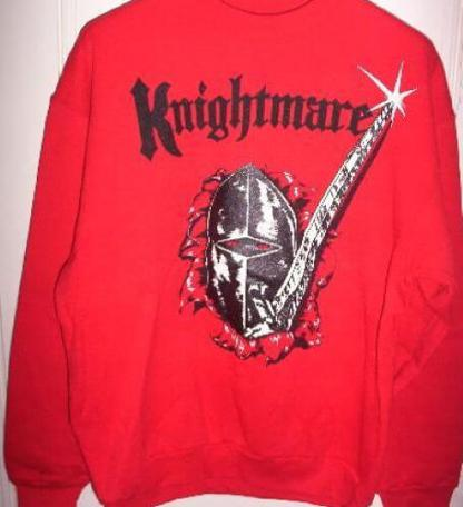 Official Knightmare sweatshirt in red.