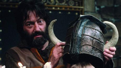 Treguard holding helmet of justice