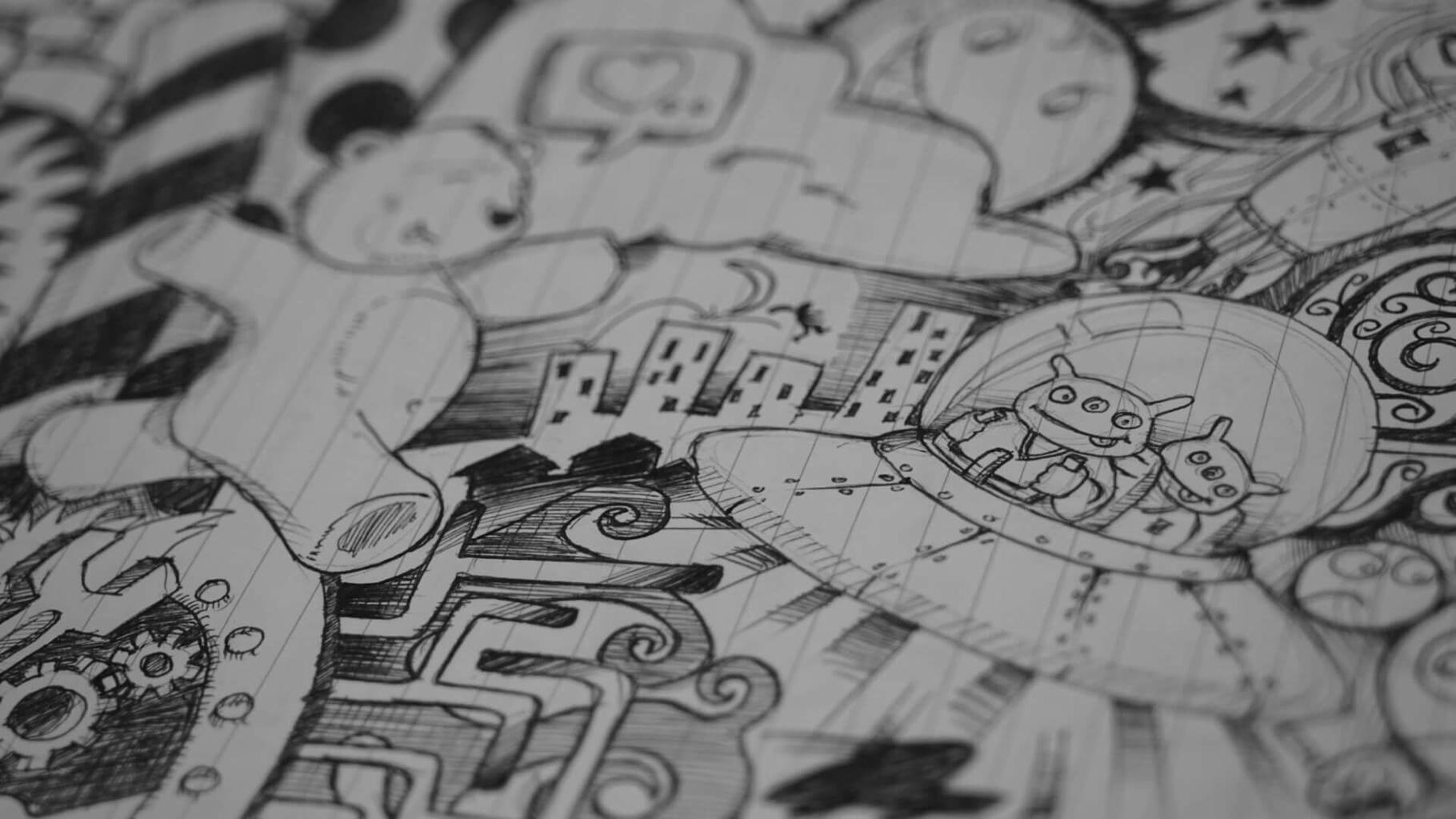 Comic Art Sketch. Photo by Khairul Nizam from Pexels.