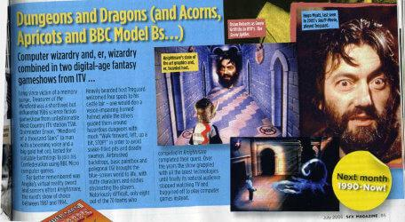 A preview of the short article on Knightmare, 'Dungeons and Dragons', from SFX magazine issue 145 (July 2006).