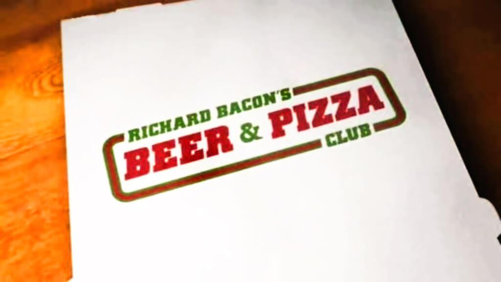 Richard Bacon's Beer and Pizza Club (2010). Banner from the programme titles.