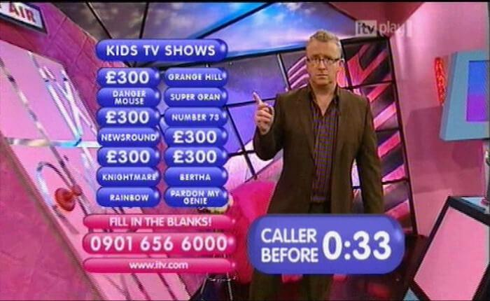 ITV Play. Knightmare appears as an answer in one of the call-in games.