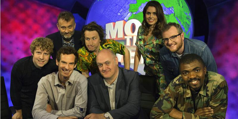 The cast of Mock the Week, Series 15, Episode 6 (including Andy Murray).
