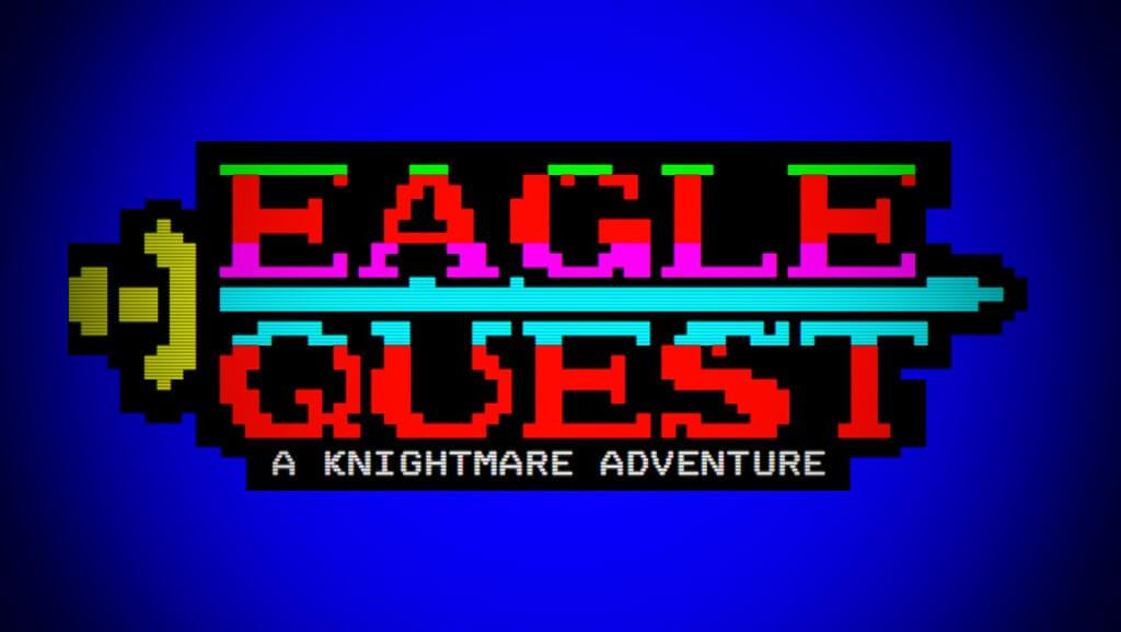 A banner for the Eagle Quest Knightmare Teletext game from 1993.