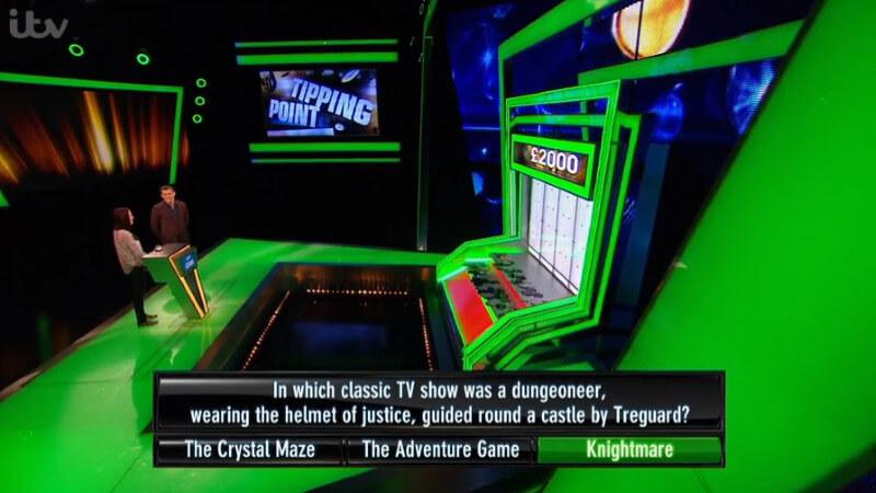 A question about Knightmare on ITV's game show, Tipping Point.