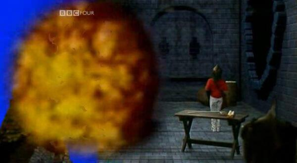 Children's TV on Trial (2007). A Series 8 room as the visual effects are added.
