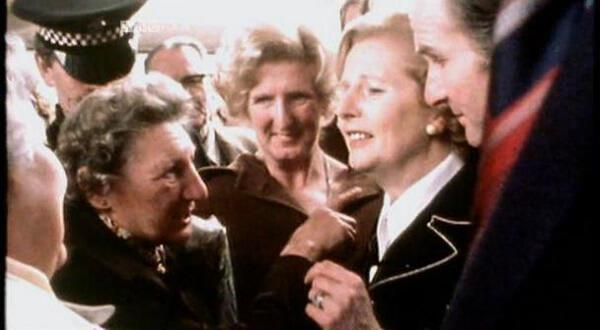 Children's TV on Trial (2007). Political imagery of Margaret Thatcher during the 1980s.