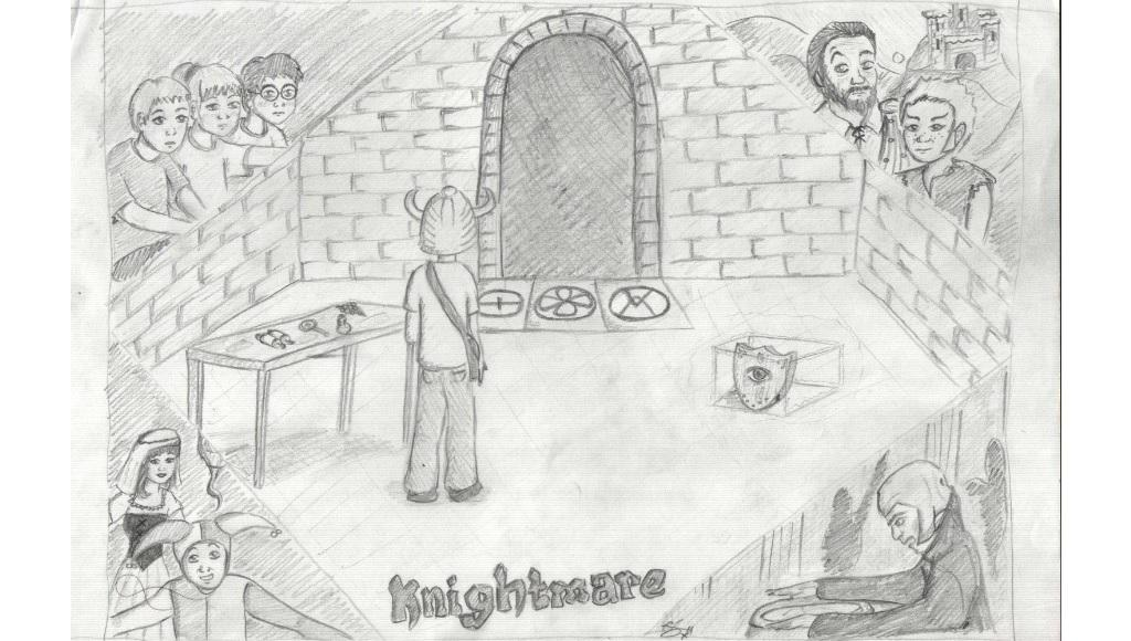 Fanart - sketch of Knightmare quest by emiib