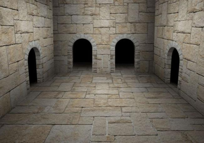 Alex Fruen's complete dungeon room with gradient shading and contrast.