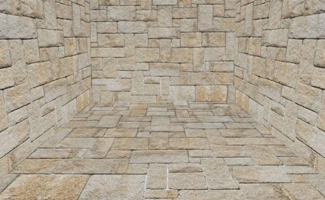 Alex Fruen uses a stone texture for the walls of his dungeon room.
