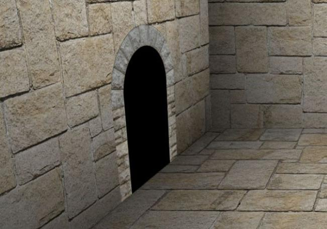 A doorway is created in the wall for Alex Fruen's dungeon room.