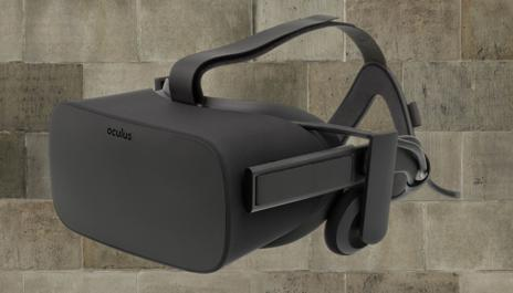 Oculus rift in brick background