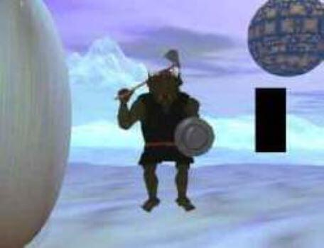 A goblin stands on guard in the second season of the Knightmare RPG.