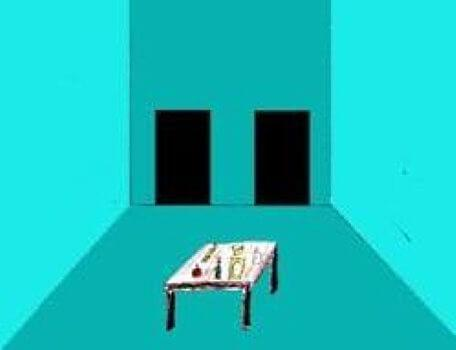 A blue clue room in the second season of the Knightmare RPG.