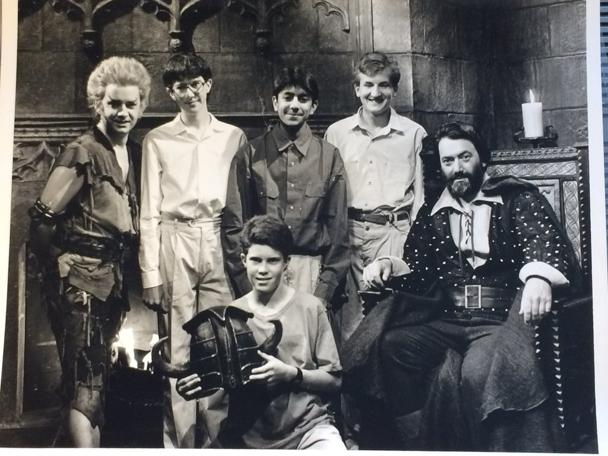 A photo card of Dickon's winning team from Series 4 (1990).