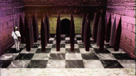 The Trial by Spikes, as seen in Series 7 of Knightmare (1993).
