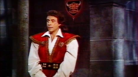 Georges Beller as the Master of the Castle (Maitre du Chateau) in Le Chevalier du Labyrinthe.