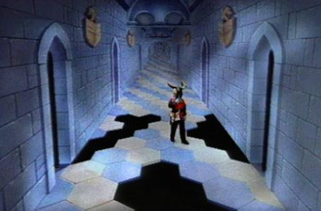 A fragmented Corridor of the Catacombs in the first series of El Rescate del Talisman.