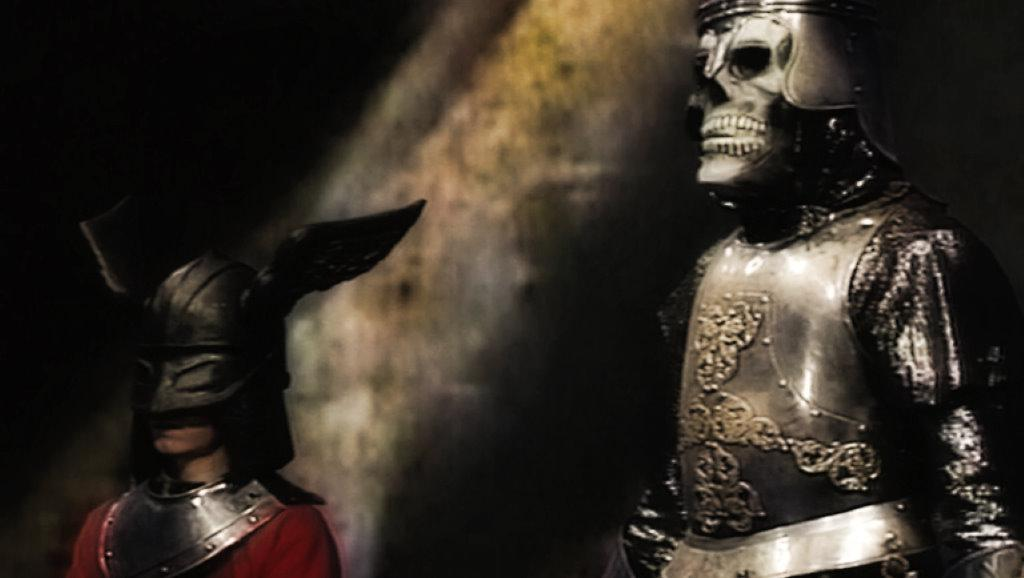 The knight (caballero) with Tados the Skeleton in El Rescate del Talisman.