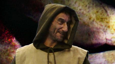 Cedric the Mad Monk, as played by Lawrence Werber in Series 1 of Knightmare (1987).