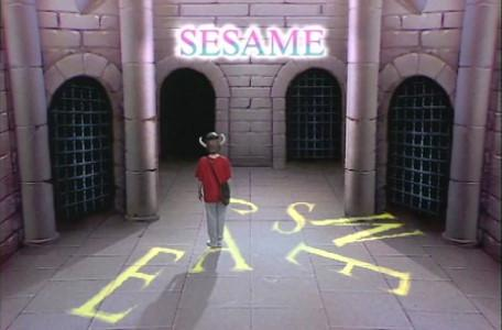Knightmare Series 1 Team 2. Maeve collects the letters to spell SESAME.