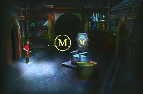 Knightmare Series 1 Team 6. Richard finds a floating symbol in Merlin's chamber.
